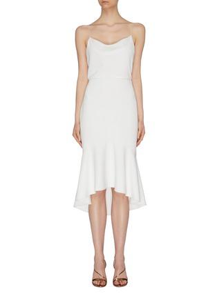首图 - 点击放大 - alice + olivia - Adrina褶裥露背吊带连衣裙