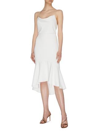 模特儿示范图 - 点击放大 - alice + olivia - Adrina褶裥露背吊带连衣裙