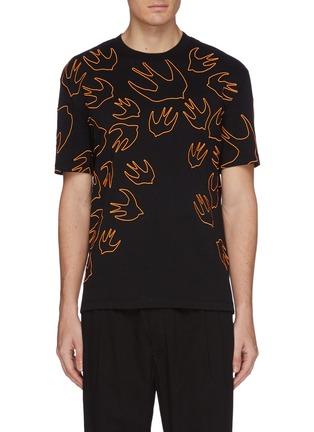 首图 - 点击放大 - McQ Alexander McQueen - 燕子刺绣纯棉T恤