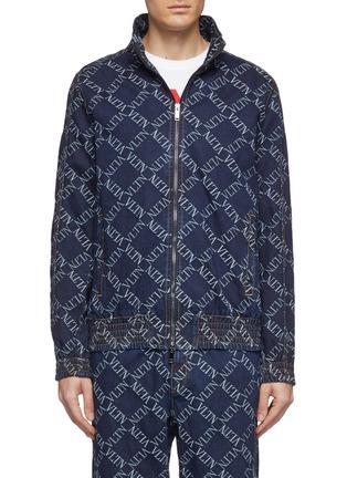 首图 - 点击放大 - Valentino - VLTN Grid格纹刺绣牛仔夹克