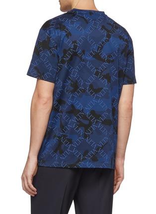 背面 - 点击放大 - Valentino - VLTN Grid格纹迷彩纯棉T恤
