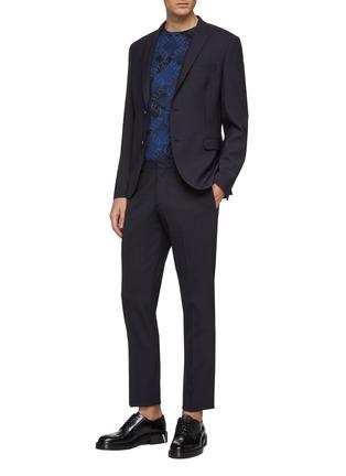 模特儿示范图 - 点击放大 - Valentino - VLTN Grid格纹迷彩纯棉T恤