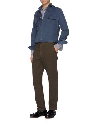 模特儿示范图 - 点击放大 - CHRISTIAN KIMBER - 翻盖口袋纯棉灯心绒衬衫