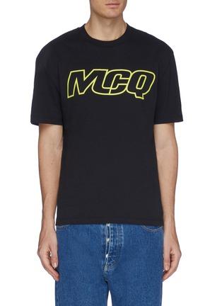 首图 - 点击放大 - McQ Alexander McQueen - logo印花落肩袖纯棉T恤