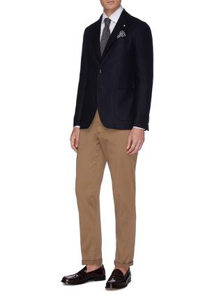 模特儿示范图 - 点击放大 - Lardini - 混棉衬衫