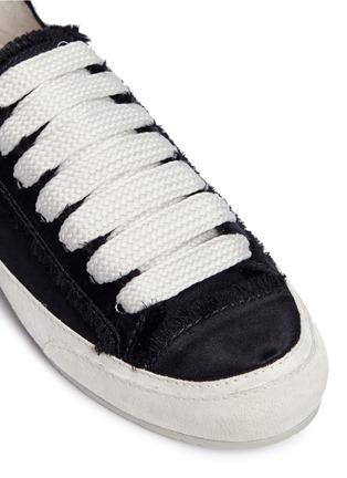 细节 - 点击放大 - Pedro García - Parson绒面皮拼接缎面真丝运动鞋