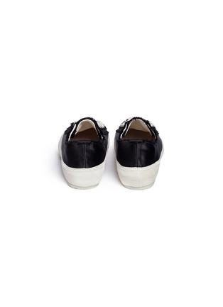 背面 - 点击放大 - Pedro García - Parson绒面皮拼接缎面真丝运动鞋