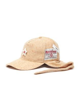 首图 - 点击放大 - SMFK - 陶瓷五角星粗花呢连耳罩棒球帽