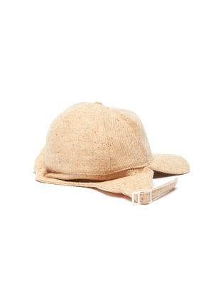 模特儿示范图 - 点击放大 - SMFK - 陶瓷五角星粗花呢连耳罩棒球帽