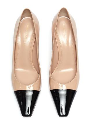 细节 - 点击放大 - GIANVITO ROSSI - Lucy拼色漆皮高跟鞋