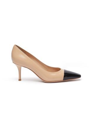 首图 - 点击放大 - GIANVITO ROSSI - Lucy拼色漆皮高跟鞋