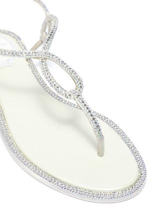 细节 - 点击放大 - RENÉ CAOVILLA - 仿水晶搭带夹脚凉鞋