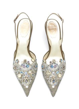 细节 - 点击放大 - René Caovilla - Veneziana仿宝石及仿水晶蕾丝露跟鞋