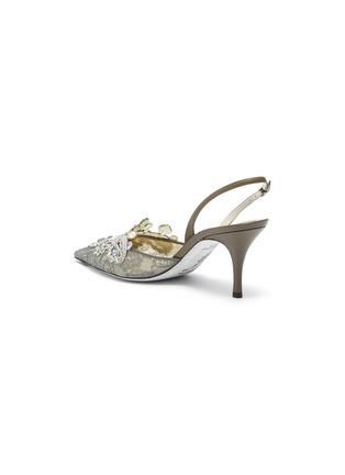 - René Caovilla - Veneziana仿宝石及仿水晶蕾丝露跟鞋