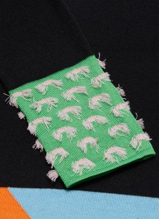 - i-am-chen - 挖剪镂空法式刺绣丝混羊绒针织衫