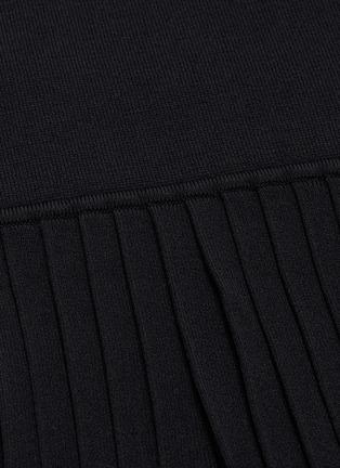 - i-am-chen - 百褶裤腿条纹针织阔腿裤