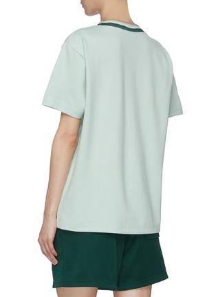 背面 - 点击放大 - ACNE STUDIOS - 拼色领口表情徽章T恤