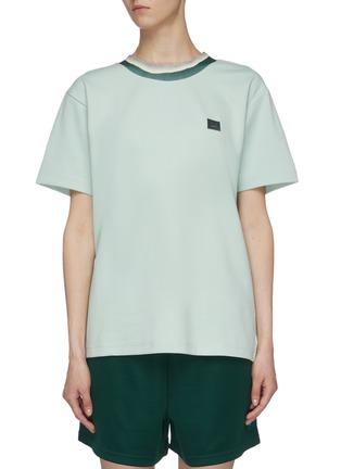 首图 - 点击放大 - ACNE STUDIOS - 拼色领口表情徽章T恤