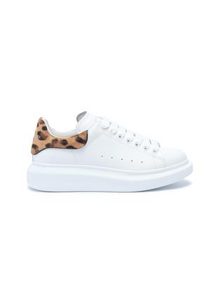 首图 - 点击放大 - Alexander McQueen - Oversized Sneaker豹纹小马毛拼贴小牛皮运动鞋