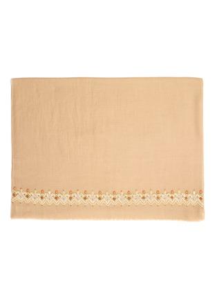 细节 - 点击放大 - Janavi - 人造珍珠民族风羊绒混美丽诺羊毛围巾