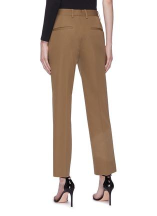 背面 - 点击放大 - HELMUT LANG - 缎面裤腰羊毛露踝裤