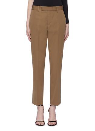 首图 - 点击放大 - HELMUT LANG - 缎面裤腰羊毛露踝裤