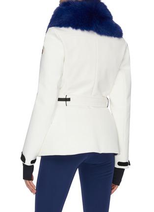背面 - 点击放大 - Moncler Grenoble - 蓝狐毛点缀功能羽绒夹克