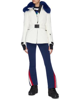 模特儿示范图 - 点击放大 - Moncler Grenoble - 蓝狐毛点缀功能羽绒夹克