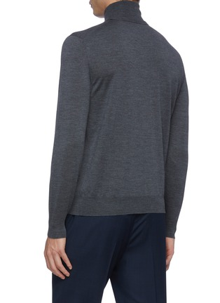 背面 - 点击放大 - LARDINI - 立领羊毛针织衫