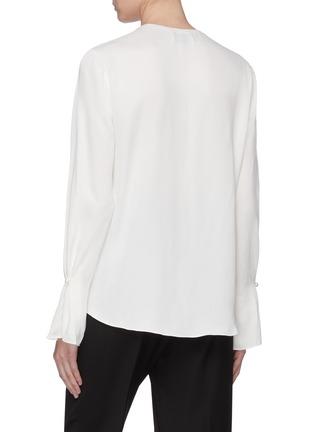 背面 - 点击放大 - 3.1 Phillip Lim - 人造珍珠点缀搭叠缎面衬衫