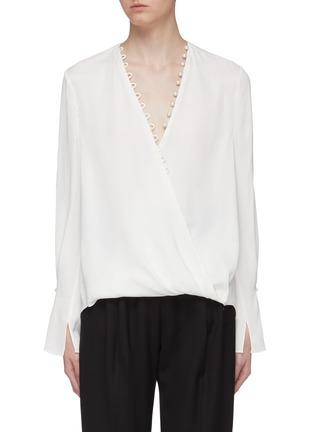 首图 - 点击放大 - 3.1 Phillip Lim - 人造珍珠点缀搭叠缎面衬衫