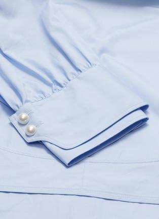 - 3.1 Phillip Lim - 珍珠钮扣双层袖口立领府绸衬衫