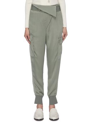 首图 - 点击放大 - 3.1 Phillip Lim - 翻折设计针扣腰带锥形缎面工装裤