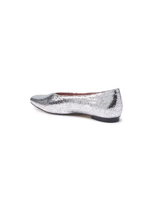 - PEDDER RED - Abe V形鞋口裂纹真皮平底鞋