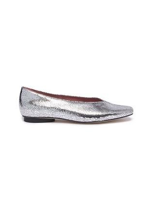 首图 - 点击放大 - PEDDER RED - Abe V形鞋口裂纹真皮平底鞋