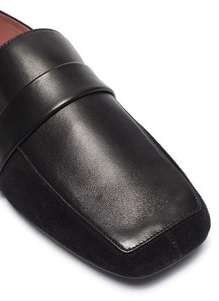 细节 - 点击放大 - Pedder Red - Adam搭带拼接设计绒面真皮乐福鞋