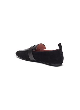 - Pedder Red - Adam搭带拼接设计绒面真皮乐福鞋
