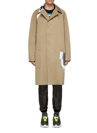 首图 - 点击放大 - kolor - 胶带拼贴效果大衣