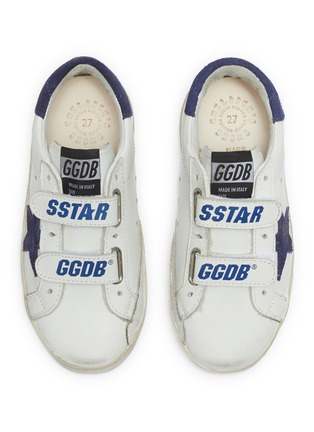 模特儿示范图 - 点击放大 - Golden Goose - Old School幼儿款魔术贴搭带做旧感运动鞋
