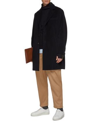 模特儿示范图 - 点击放大 - BARENA - 平驳领初剪羊毛大衣