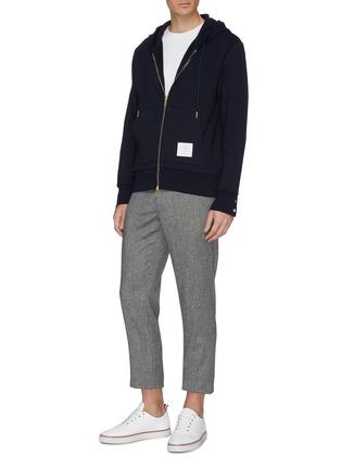 模特儿示范图 - 点击放大 - Thom Browne - 三色条纹布饰纯棉T恤