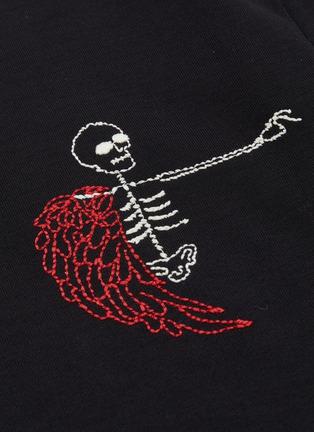 - Alexander McQueen - Naïve Skull骷髅头刺绣纯棉T恤