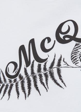 - Alexander McQueen - logo植物印花纯棉T恤