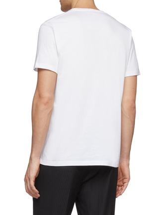 背面 - 点击放大 - Alexander McQueen - logo植物印花纯棉T恤