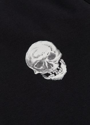 - Alexander McQueen - 骷髅头及logo印花纯棉T恤