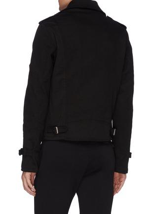 背面 - 点击放大 - ALEXANDER MCQUEEN - logo刺绣牛仔机车夹克