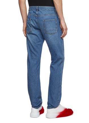 背面 - 点击放大 - ALEXANDER MCQUEEN - 格纹补丁破洞水洗牛仔裤
