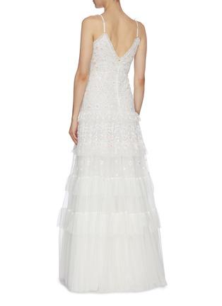 背面 - 点击放大 - Needle & Thread - Gracie花卉刺绣波点网纱吊带礼服裙