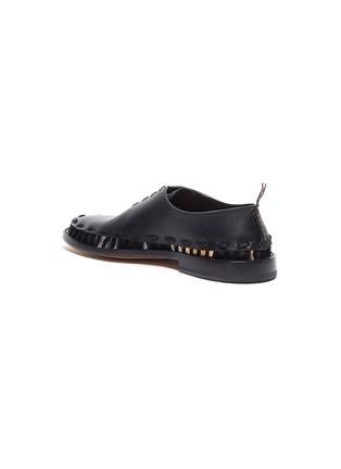 - Bottega Veneta - 穿插编绳切割细节小牛皮德比鞋
