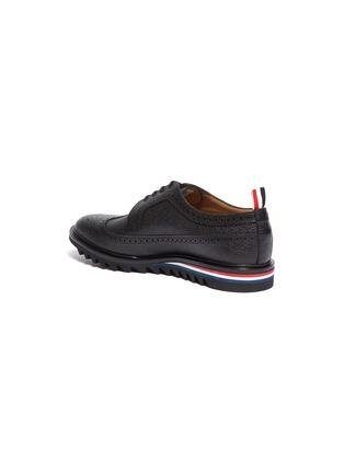- Thom Browne - 三色条纹雕花装饰粒面真皮德比鞋